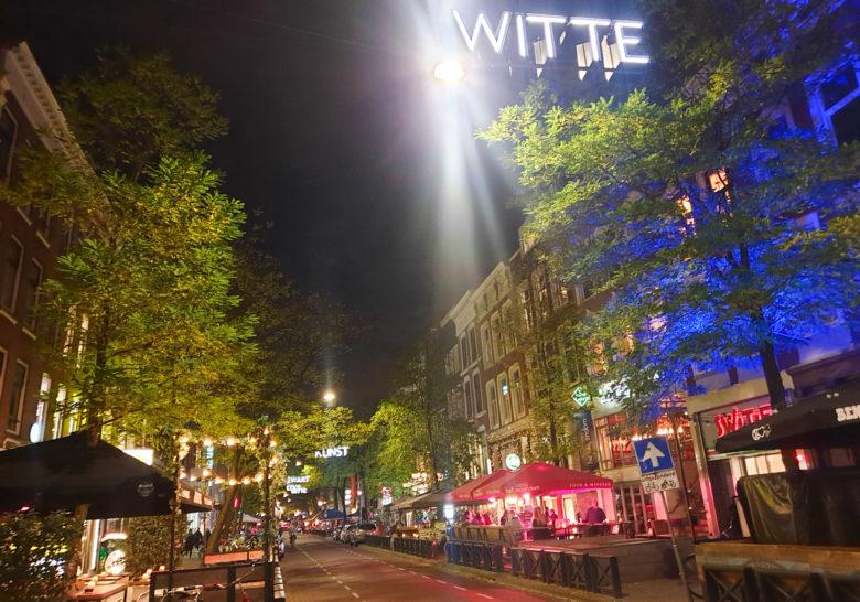 Witte De Withstraat Neon Lights Rotterdam