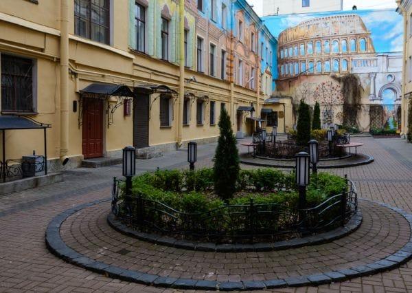 Italian Courtyard Saint Petersburg