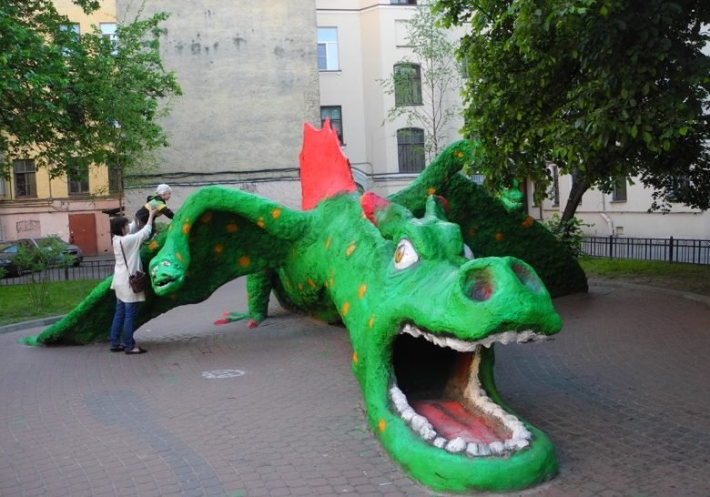 Green dragon Saint Petersburg
