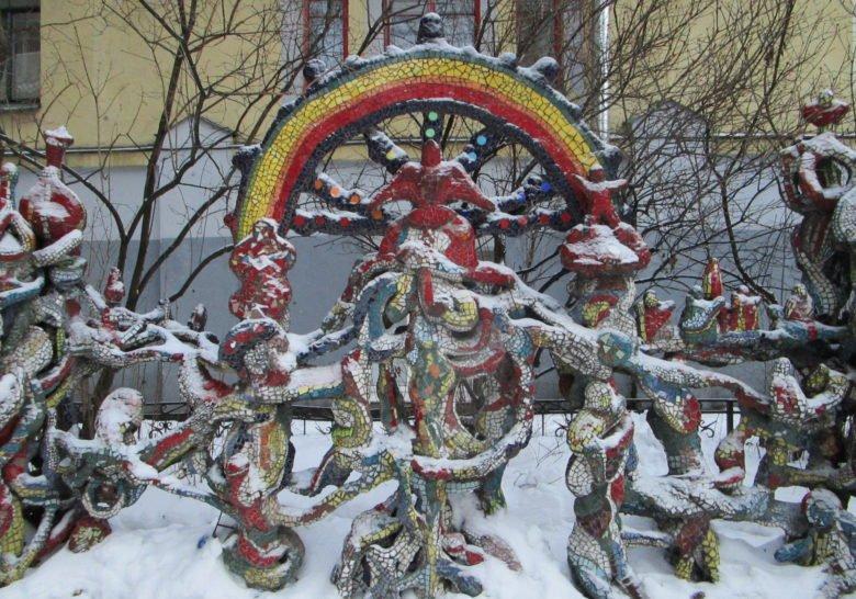 Mosaic courtyard Saint Petersburg