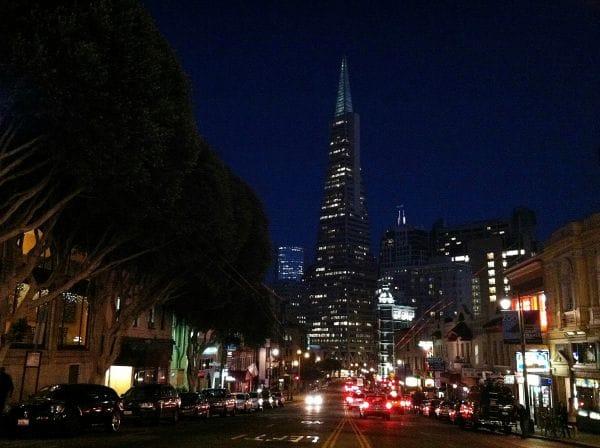 Intersection at Columbus and Broadway San Francisco