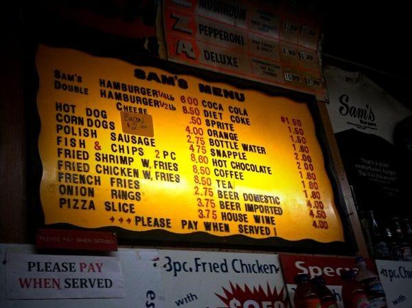 Sam's Pizza & Hamburgers San Francisco