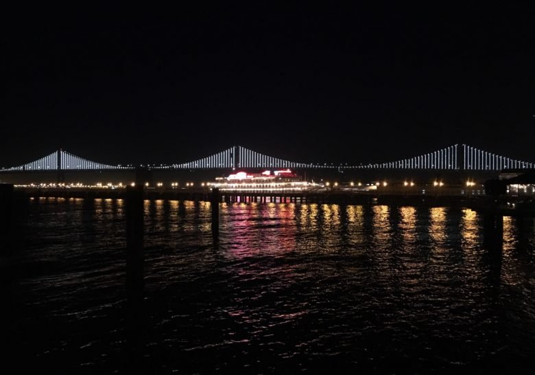 Bay Bridge Lights San Francisco