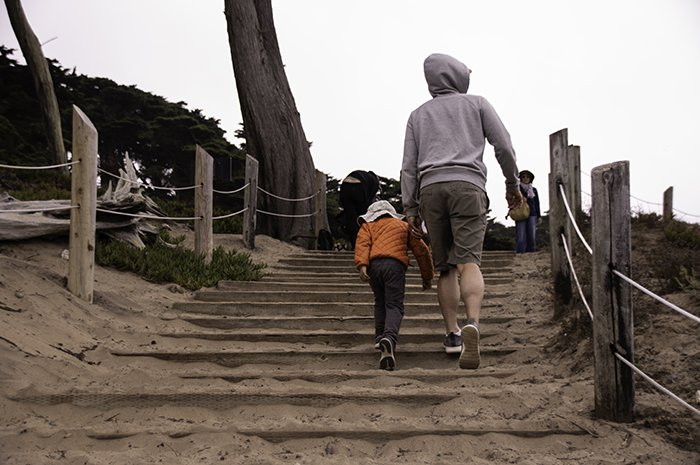 Sand Ladder at Baker Beach San Francisco