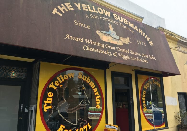 Yellow Submarine Sandwiches San Francisco