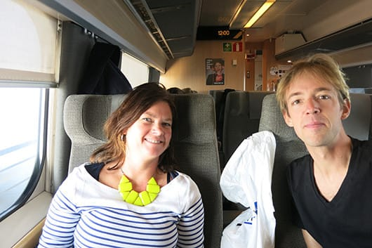 On the train from Copenhagen to Stockholm