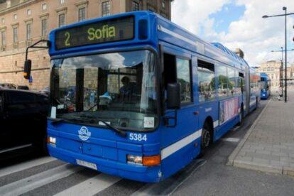 Blue Buses in Stockholm Stockholm