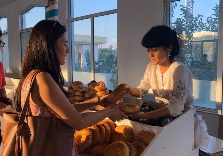 Chorsu Bazar's Bread Section Tashkent