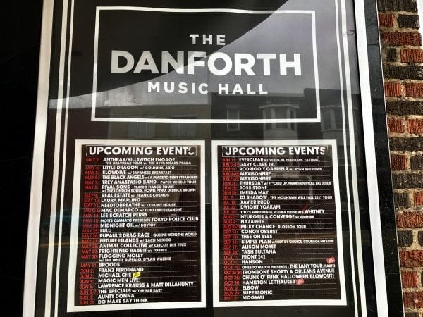 Danforth Music Hall Toronto