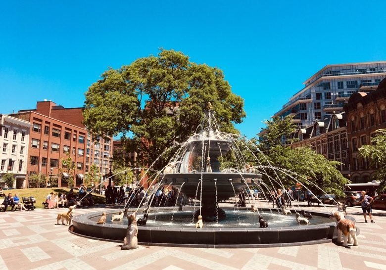 Berczy Park Dog Fountain Toronto