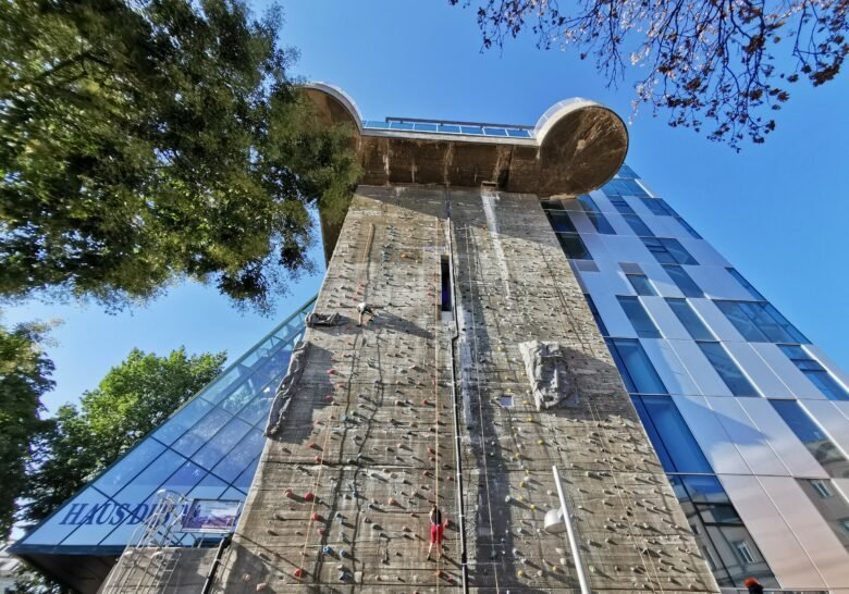 Climbing on Flakturm Vienna