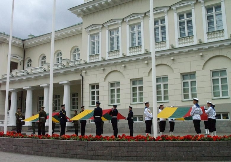 A Flag Raising Ceremony Vilnius
