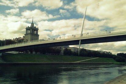 The Baltasis bridge Vilnius