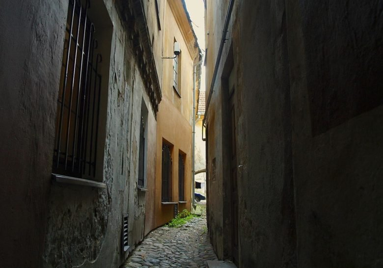 The narrowest street in Vilnius Vilnius