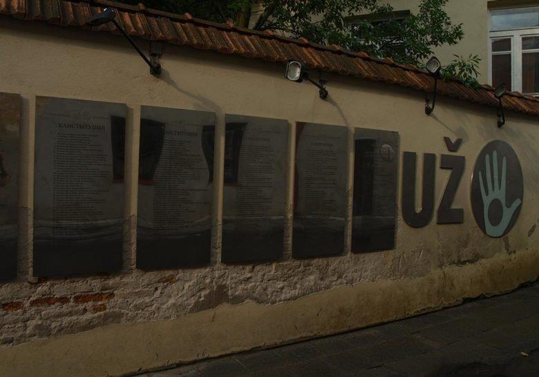 Užupio konstitucija Vilnius