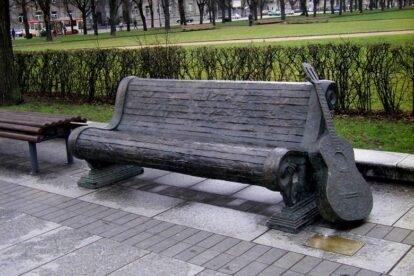 Vytautas Kernagis monument Vilnius