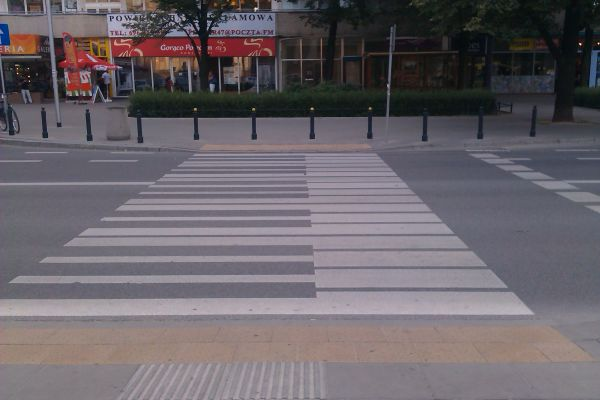 Piano crosswalk Warsaw