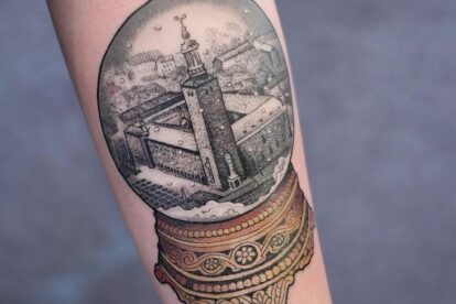 Stockholm city hall tattoo