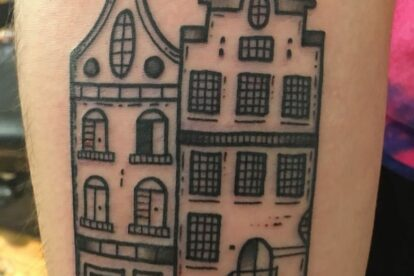 Amsterdam's canals tattoo