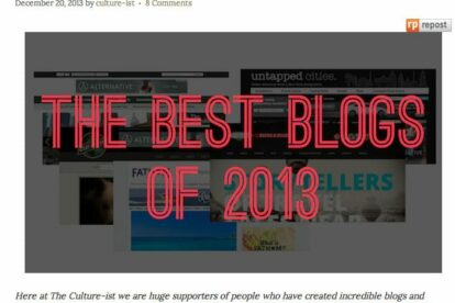 18 Best Blogs and Websites of 2013 - Culture-ist 2014-01-06 07-11-45