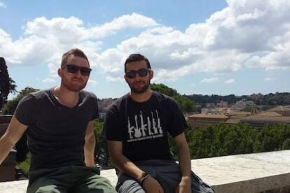 Stefan (Copenhagen) in Rome with Spotter Ivan