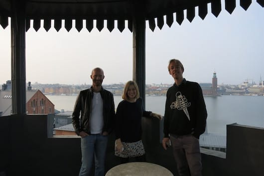 Lars, Elin & Bart in the tower (!) of Lars' office
