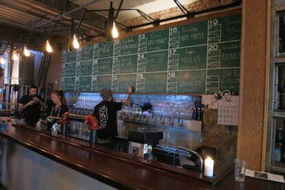 Craft beers at Crow Bryggeri