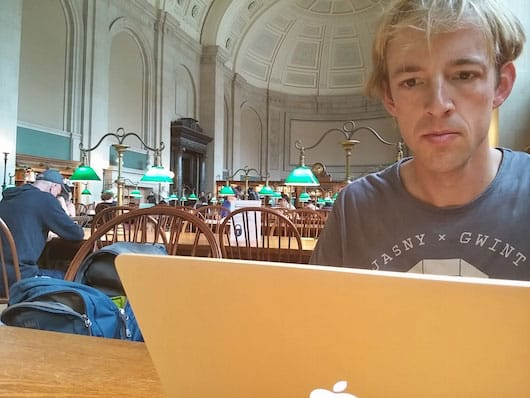 Working from the amazing Boston library