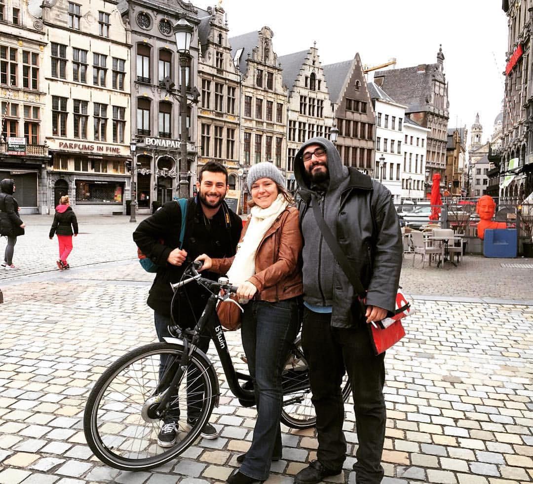 Porto Spotter Tiago (Porto) and Ivan (Rome) meeting Britt in Antwerp