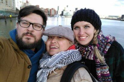 Igor (Tel Aviv) & Mankica (Ljubljana) meeting Renia in Rotterdam