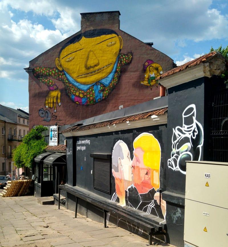 Vilnius' street art (by Justina Kozakaitė)