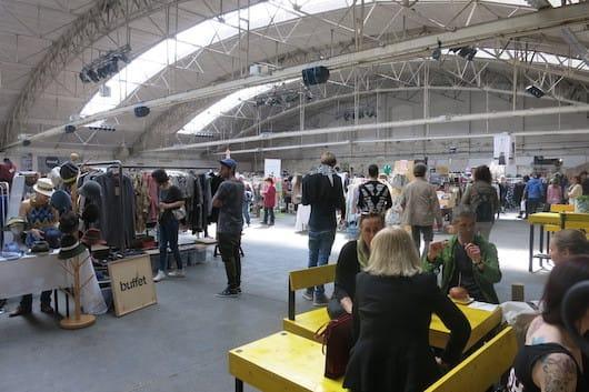 Edelstoff market at Ankerbrot-fabrik