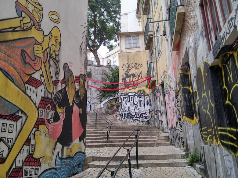 We love Lisbon's thousands of alleys