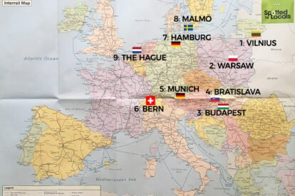 Our 10 European cities in 13 days Interrail trip!