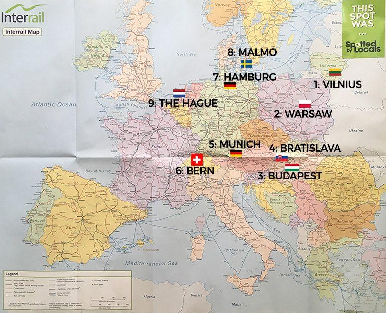 Our 10 European cities in 13 days Interrail trip!