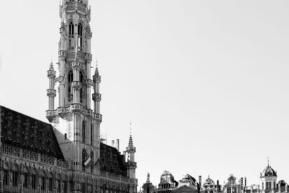 empty Grand Place without tourists