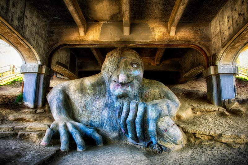 Fremont Troll - Seattle (by Michael Matti Flickr)