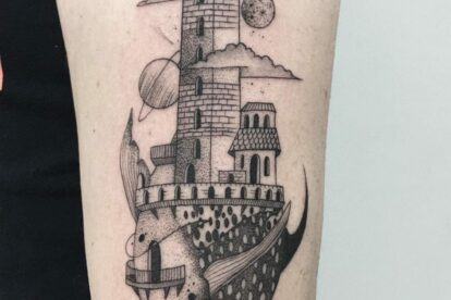 Milan towers tattoo
