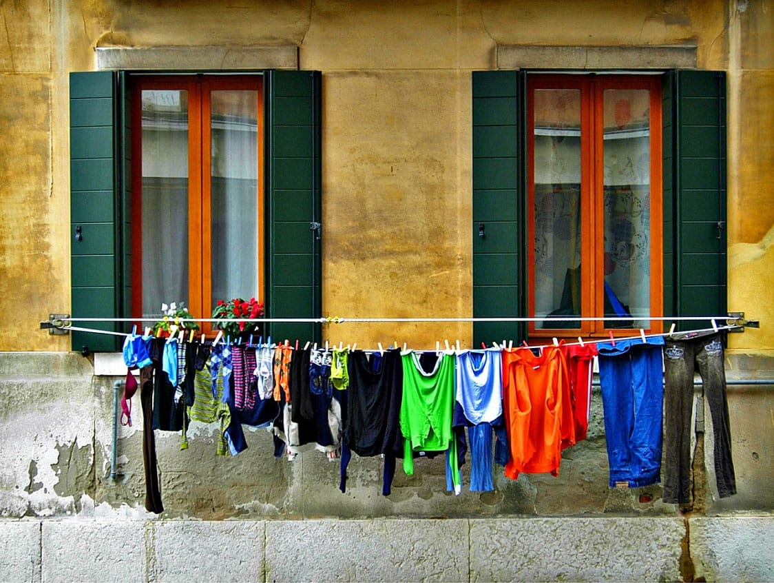 A clothes line in Venice - by alessandra elle