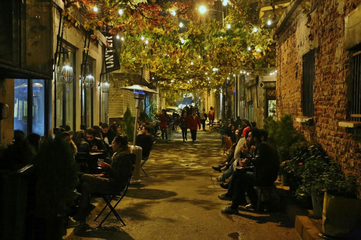 A street in Karaköy - by John Lubbock