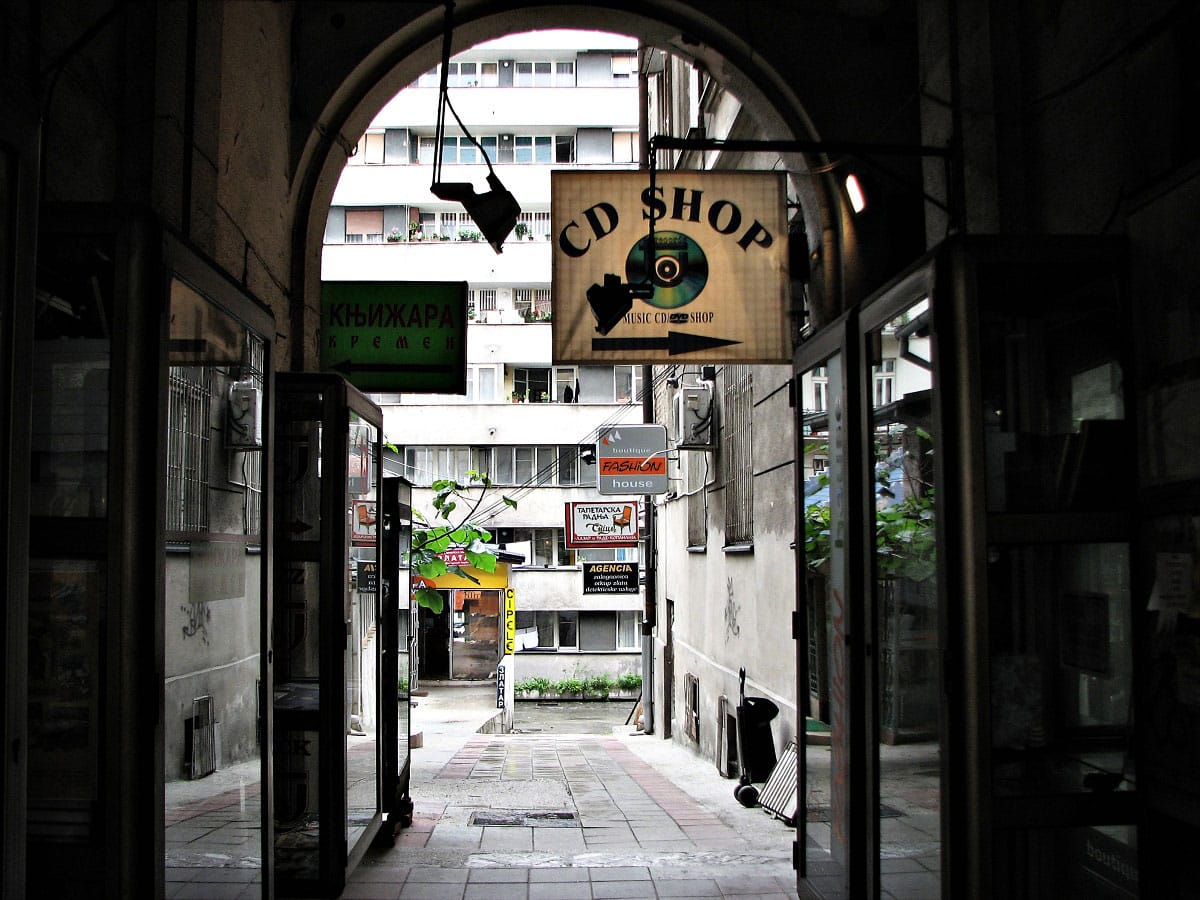 An alley in dowtown Belgrade - by Block 70