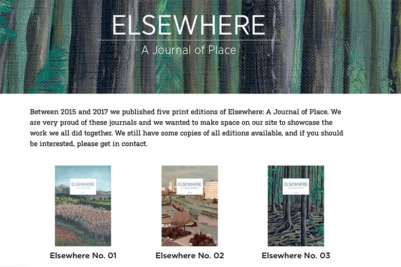 Online Magazines We Love: Elsewhere Journal