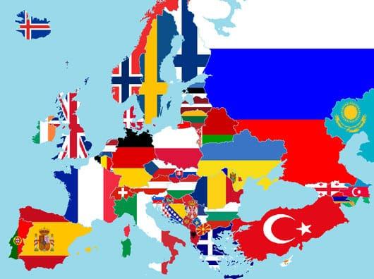 Europe flags (Wikimedia)