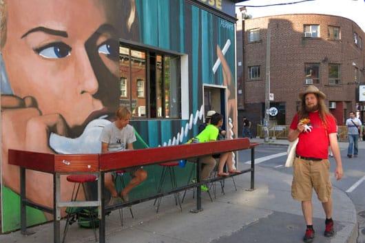 Sidewalk bar Toronto