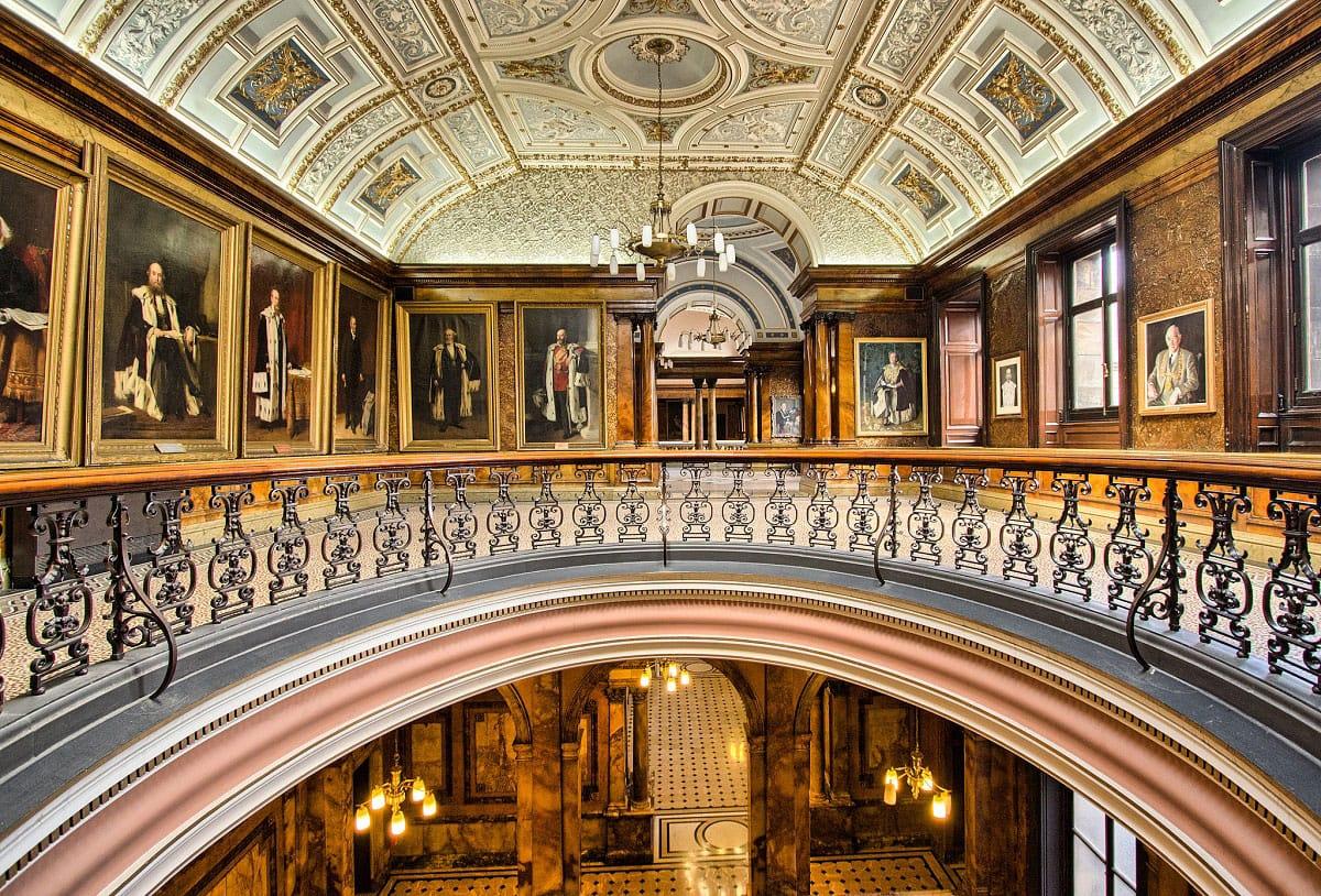 Inside Glasgow City Chambers - by Sebastian Ruff