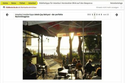 Spotted by Locals article screenshot Sueddeutsche Zeitung website