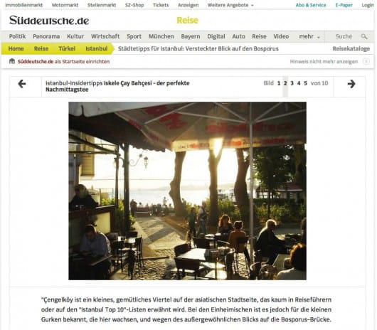 Spotted by Locals article screenshot Sueddeutsche Zeitung website