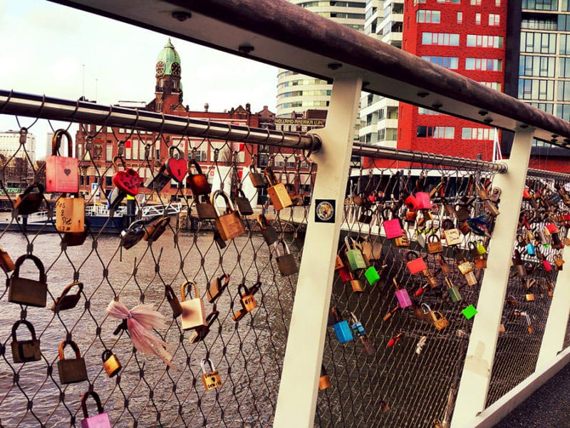 Love Lock Bridge Rotterdam (by Anne-Marie Ros)