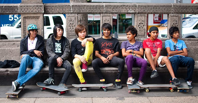 Local Mexico City skaters (by sarihuella)