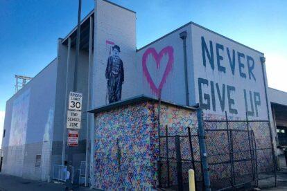 Mr. Brainwash mural (by Laetitia-Laure Brock)